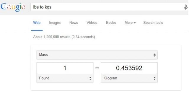 11. Đổi đơn vị đo lường trực tuyến,Google Seach