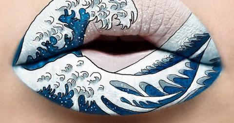 Nghệ thuật vẽ tranh trên đôi môi