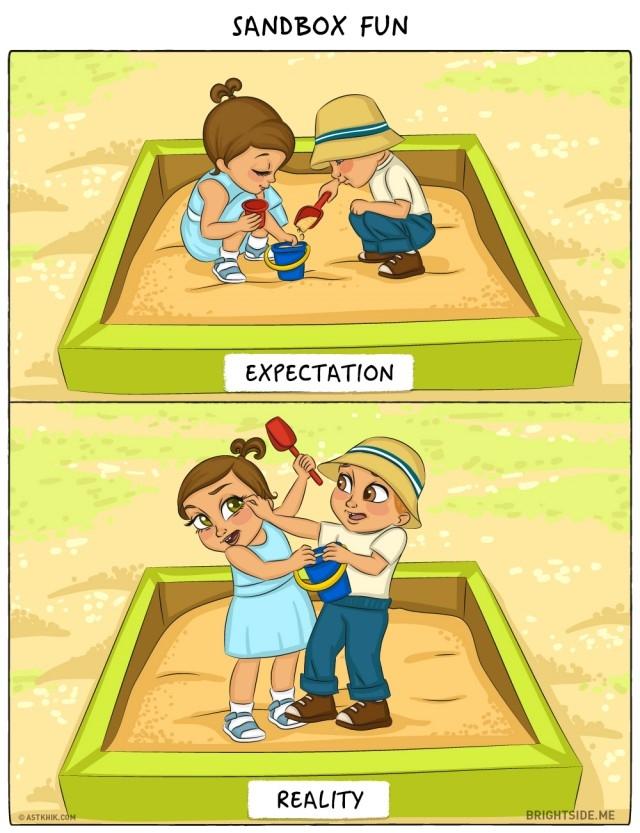 8. Nghịch cát,ảnh hài,làm cha,làm mẹ,em bé,đứa con đầu lòng