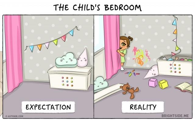 3. Phòng ngủ của bé,ảnh hài,làm cha,làm mẹ,em bé,đứa con đầu lòng