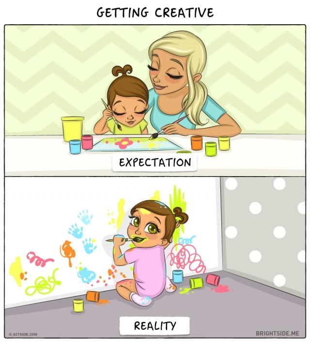6. Sáng tạo,ảnh hài,làm cha,làm mẹ,em bé,đứa con đầu lòng