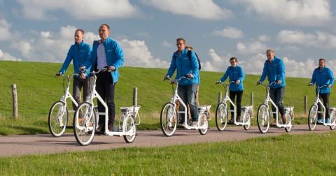 Trước có xe đạp điện, giờ có xe đi bộ điện
