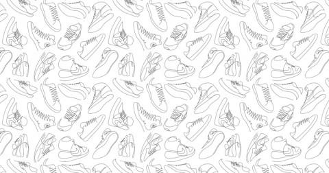 Những đôi sneaker 'kinh điển' qua một nét vẽ duy nhất