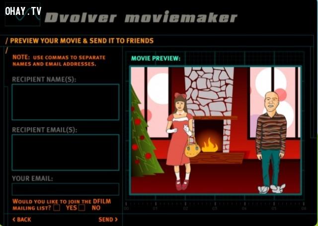 2. Làm phim hoạt hình trực tuyến với Dvolver,trang web thú vị,có thể bạn chưa biết,thư giãn