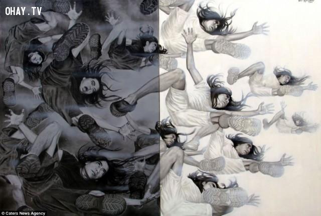 """4. """"Narcis Diagnosis"""",Veri Apriyatno,ảo ảnh thị giác,chân dung tự họa"""