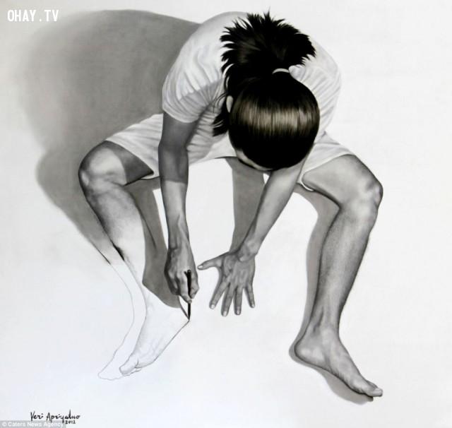 """6. """"Imaginary reality"""",Veri Apriyatno,ảo ảnh thị giác,chân dung tự họa"""