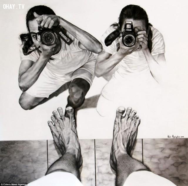 """2. """"Say cheese"""",Veri Apriyatno,ảo ảnh thị giác,chân dung tự họa"""