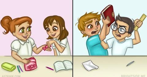 7 điểm khác biệt trong tình bạn của con trai và con gái