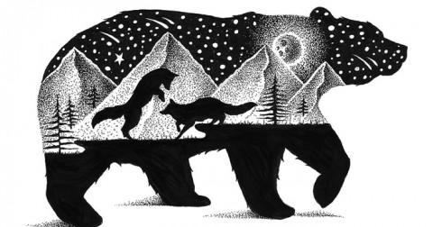 Những bức vẽ động vật hoang dã bằng hàng nghìn chấm nhỏ của Thiago Bianchini
