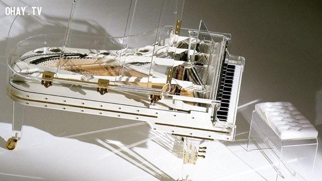 Đàn Piano pha lê - 3.200.000 $.,những thứ siêu đắt,siêu du thuyền,khám phá