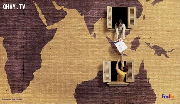 Quảng cáo dịch vụ chuyển phát nhanh quốc tế tập đoàn FedEx,