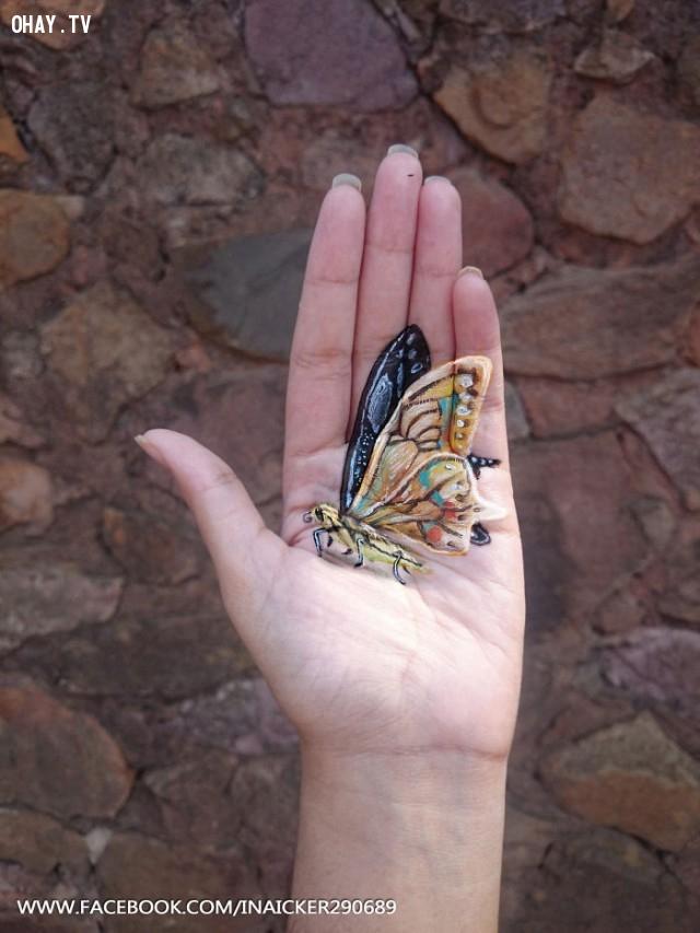 ,tranh 3D,Lòng bàn tay
