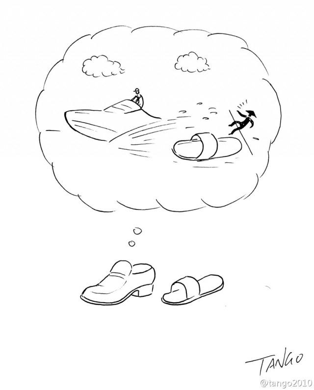 Đây là sự khác nhau giữa một chiếc giày xịn và một chiếc dép lê.,hình hài hước,ảnh vui