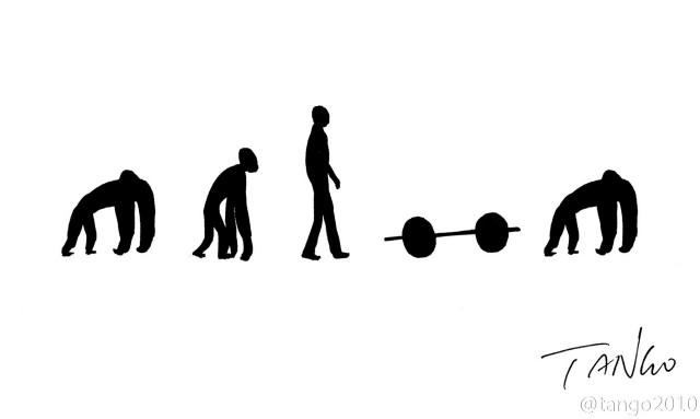 Quá trình tiến hóa,hình hài hước,ảnh vui