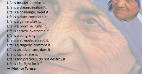 Bài thơ về cuộc đời đáng suy ngẫm của Mẹ Teresa