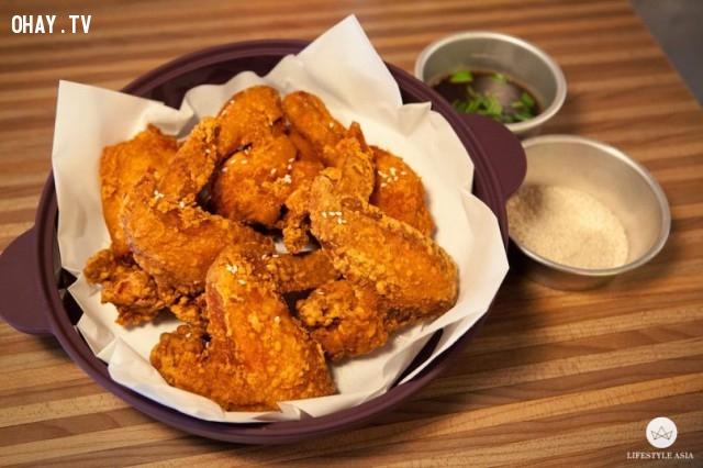 Oppa Chicken,gà rán,Singapore,ẩm thực,du lịch