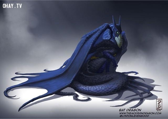 03. Rồng Batman,nhân vật truyện tranh,rồng,tranh vẽ,nghệ thuật