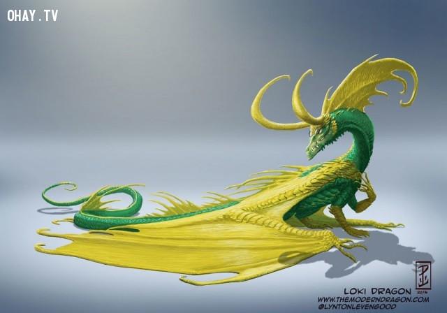 04. Rồng Loki,nhân vật truyện tranh,rồng,tranh vẽ,nghệ thuật