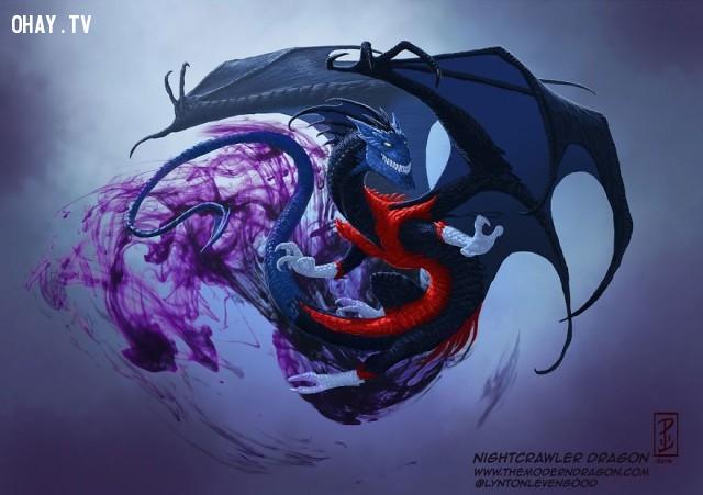 07. Rồng Nightcrawler,nhân vật truyện tranh,rồng,tranh vẽ,nghệ thuật