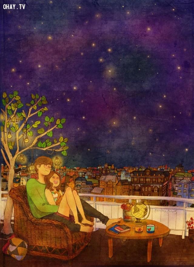 Cùng nhau ngắm sao trời,tình yêu,yêu thương và chia sẻ