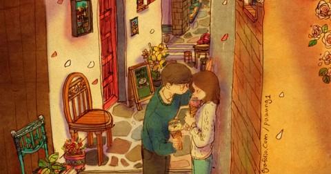Bộ tranh 'Tình yêu là' tràn ngập yêu thương và lãng mạn