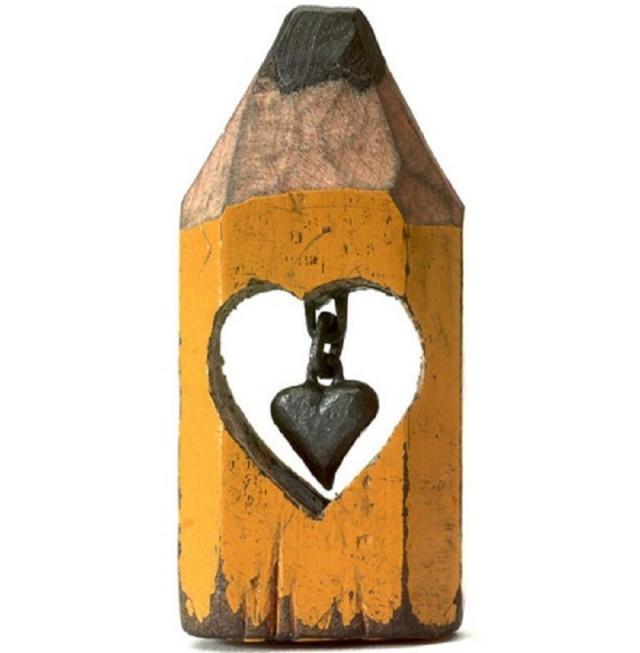 Trái tim ràng buộc ,bút chì,tác phẩm nghệ thuật,sáng tạo,kiệt tác nghệ thuật,khắc bút chì