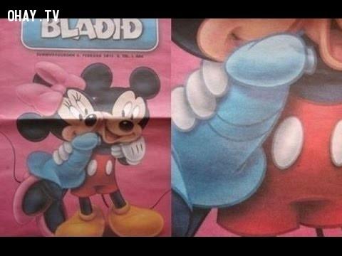 2. Hóa ra tình yêu của Mickey và Minnie không ngây thơ như chúng ta vẫn nghĩ.,đầu độc tâm hồn,ảnh hài,phim hoạt hình,chi tiết nhạy cảm