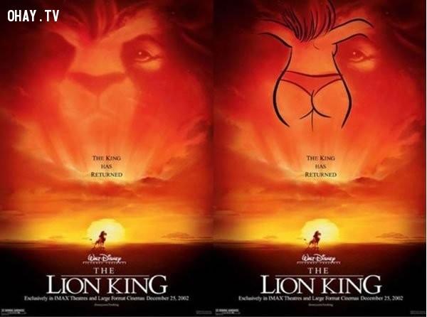 1. Poster trong phim Vua sư tử.,đầu độc tâm hồn,ảnh hài,phim hoạt hình,chi tiết nhạy cảm