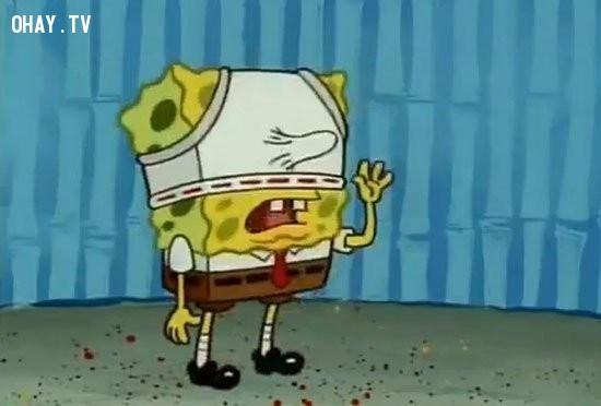 8. Một cảnh trong Spongebob Squarepants.,đầu độc tâm hồn,ảnh hài,phim hoạt hình,chi tiết nhạy cảm