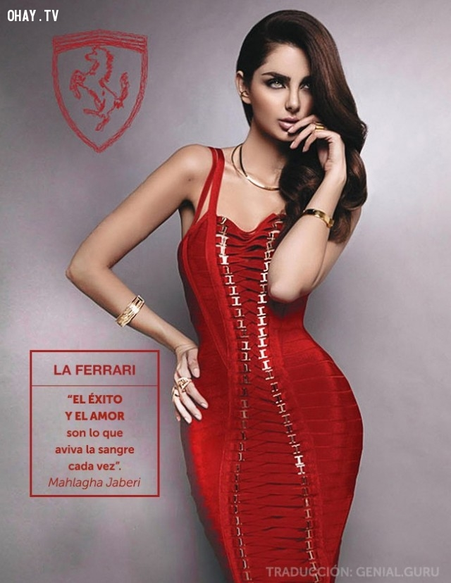 Siêu xe Ferrari LaFerrari hóa thành cô gái áo đỏ với đường cong nóng bỏng.,siêu xe biến hình,ảnh đẹp,những điều thú vị trong cuộc sống