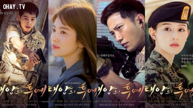 Hậu duệ mặt trời ( Song Joong-ki, Song Hye-kyo, Kim Ji-won, Jin Goo,…),Phim tình cảm