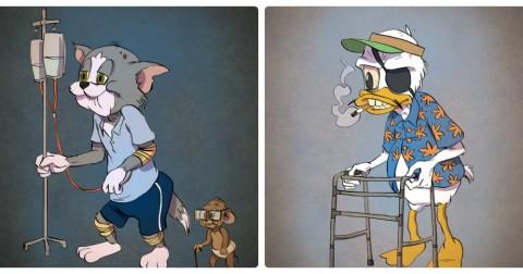 Chân dung các nhân vật hoạt hình nổi tiếng khi về hưu