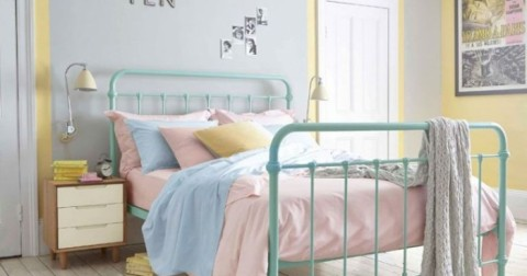 15 mẫu phòng ngủ đẹp với gam màu pastel