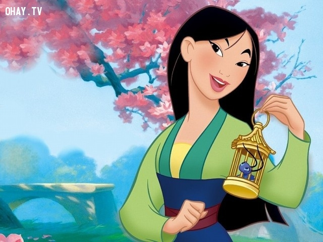 """Mulan là nhân vật duy nhất trong """"đội ngũ"""" chính thức của Disney không phải một công chúa thật sự.,sự thật thú vị,những nàng công chúa Disney"""