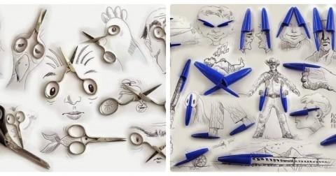 Những kiệt tác nghệ thuật từ những vật dụng thường ngày của họa sĩ Victor Nunes