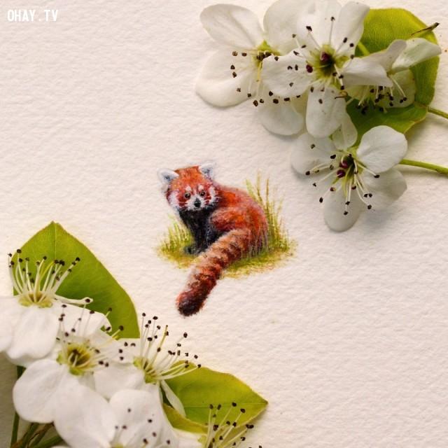 ,tranh màu nước,tranh tí hon,sản phẩm độc đáo,sáng tạo,Rachel Beltz,tác phẩm nghệ thuật
