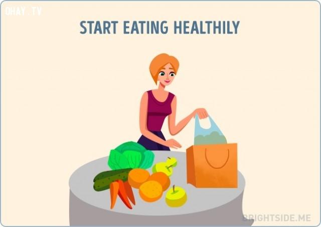 Tập ăn uống lành mạnh,vượt qua nỗi buồn,cuộc sống,cách sống tốt