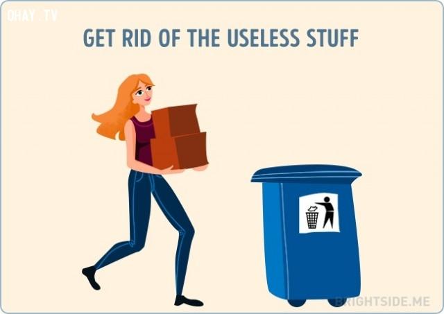 Vứt bỏ những món đồ vô dụng,vượt qua nỗi buồn,cuộc sống,cách sống tốt