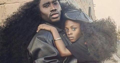 2 cha con với mái tóc kỳ lạ làm xôn xao cộng đồng mạng