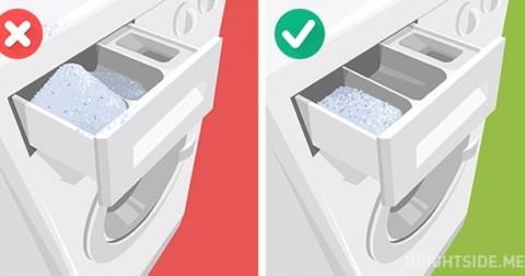 Những sai lầm phổ biến khi sử dụng máy giặt