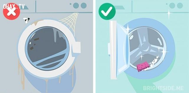 10. Không vệ sinh máy giặt,máy giặt,giặt quần áo đúng cách,mẹo hay
