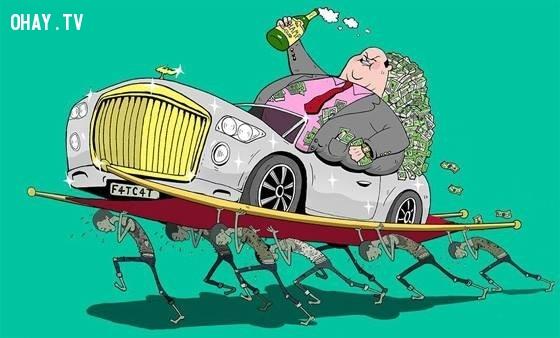 13. Thế giới chỉ có hai loại người: những kẻ có tiền và những kẻ làm ra nó.,sự thật về tiền,tiền là gì,sức mạnh đồng tiền
