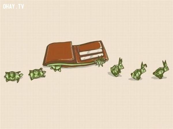 9. Số tiền tiêu đi bao giờ cũng tỉ lệ nghịch với số tiền kiếm được.,sự thật về tiền,tiền là gì,sức mạnh đồng tiền