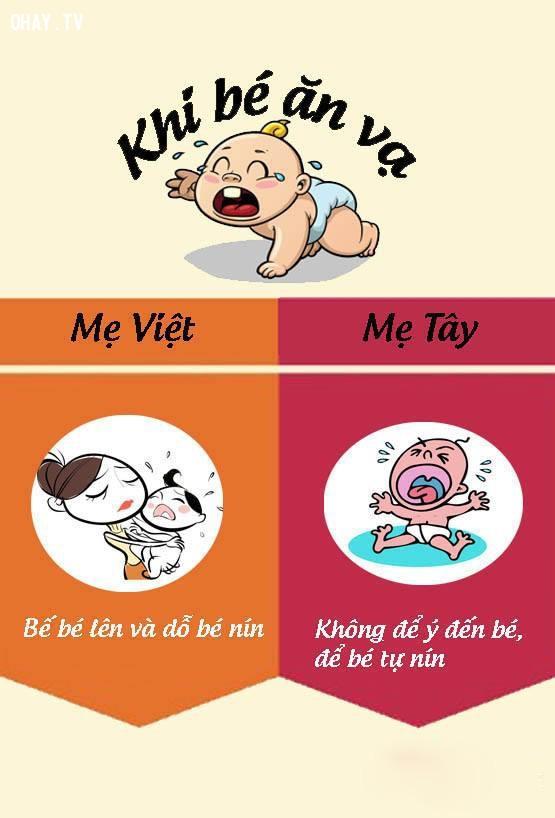 1. Khi con ăn vạ,nuôi dạy con cái,mẹ Việt mẹ Tây,cách nuôi dạy con,nuôi con khỏe mạnh