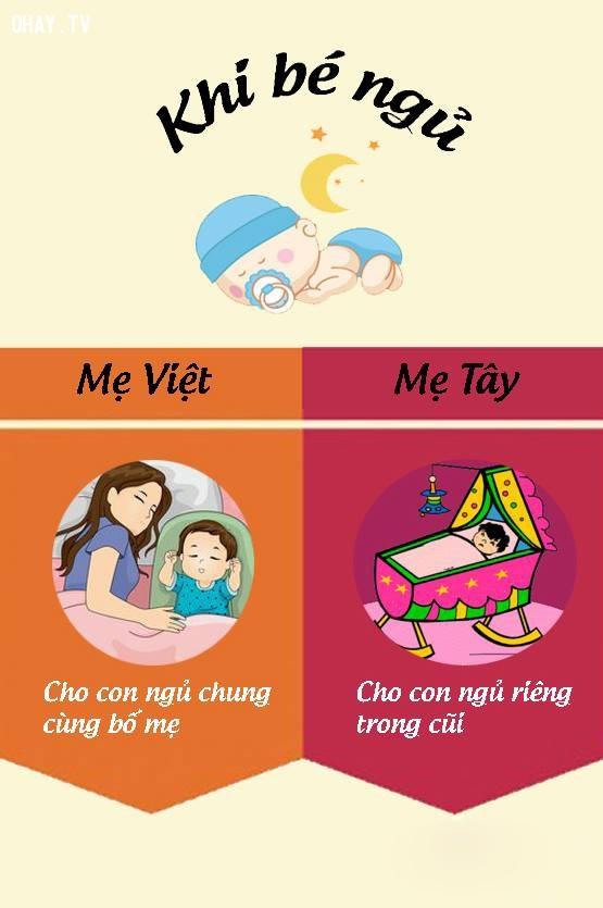 10. Khi cho con đi ngủ,nuôi dạy con cái,mẹ Việt mẹ Tây,cách nuôi dạy con,nuôi con khỏe mạnh