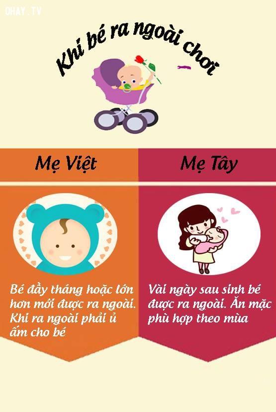 9. Quan điểm khác nhau khi con nhỏ ra ngoài chơi,nuôi dạy con cái,mẹ Việt mẹ Tây,cách nuôi dạy con,nuôi con khỏe mạnh