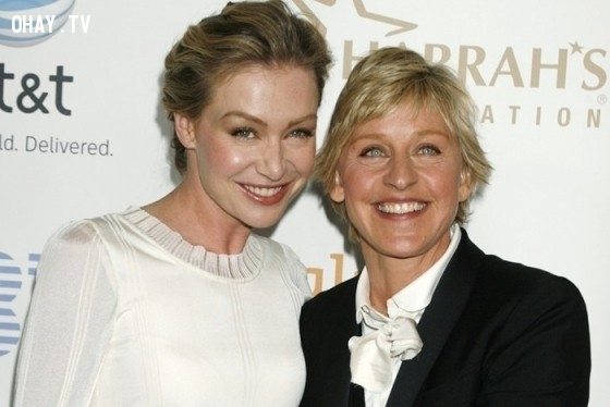 Ellen Degeneres và Portia de Rossi,cặp đôi đẹp,Hollywood
