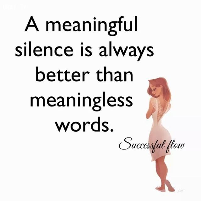 8. Một sự im lặng ý nghĩa luôn tốt hơn những lời nói vô nghĩa.,trích dẫn hay về cuộc sống,câu nói hay về cuộc sống,suy ngẫm,TRÍCH DẪN TRUYỀN CẢM HỨNG,TRÍCH DẪN TẠO ĐỘNG LỰC