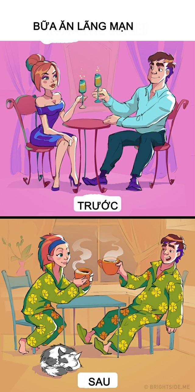 Bữa ăn tối lãng mạn,hài hước,khác biệt khi yêu,tình nhân