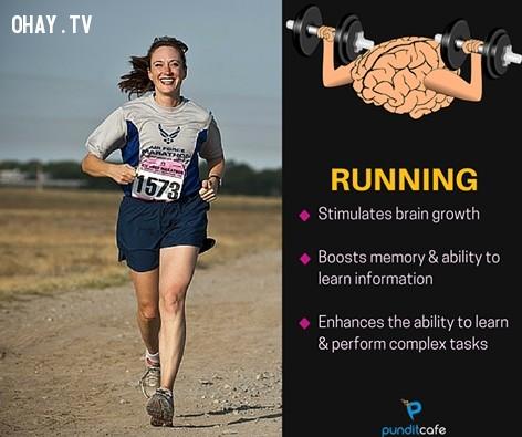 1. Chạy bộ,sở thích giúp rèn luyện não,rèn luyện não bộ,rèn luyện trí não,luyện tập trí não,luyện tập não bộ